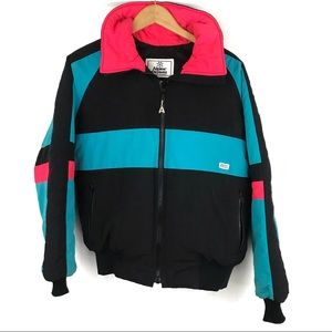 Alpine Designs 90s Colorblock down ski jacket USA